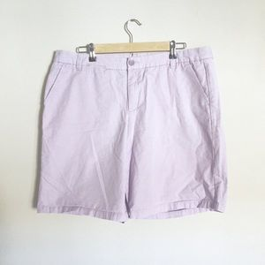 Plus GAP Lavender Boyfriend Khaki Shorts Sz 16